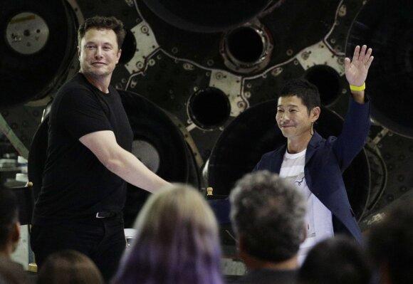 Yusaku Maezawa ir Elonas Muskas