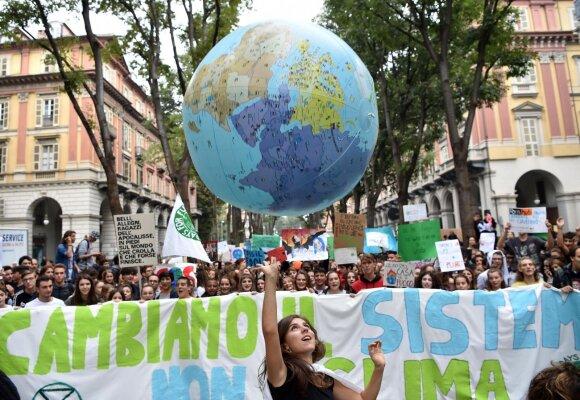 Gretos Thunberg įkvėptas protestas
