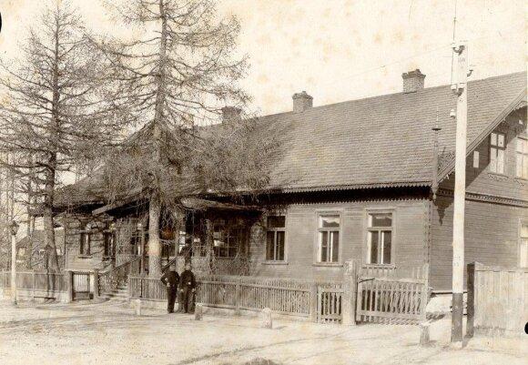 Senasis Tiškevičių dvaro rūmų pastatas Palangoje apie 1905 m.