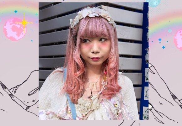 """Igari makeup - """"lengvai išgėrusio žmogaus makiažas"""" daugiausiai madingas tarp jaunų japonių."""