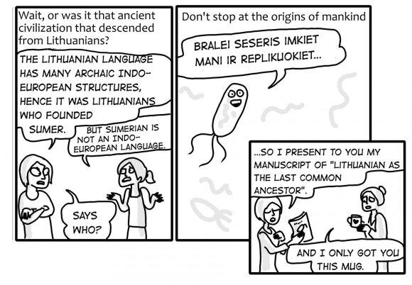 Comic: Lithuanian origin theories
