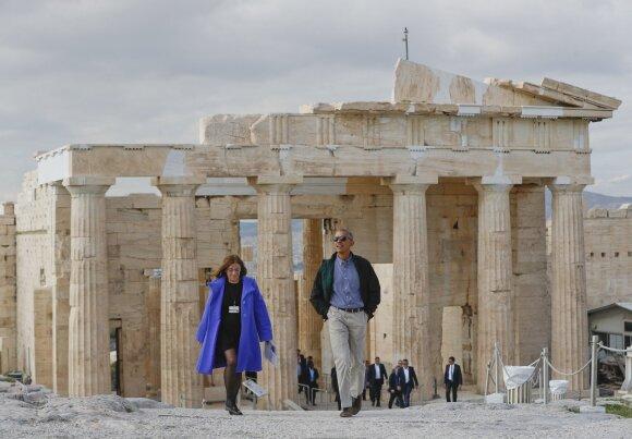 B. Obama Atėnuose