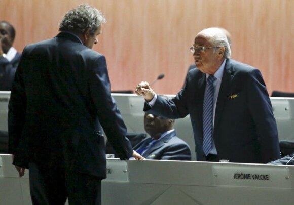 Michelis Platini ir Seppas Blatteris