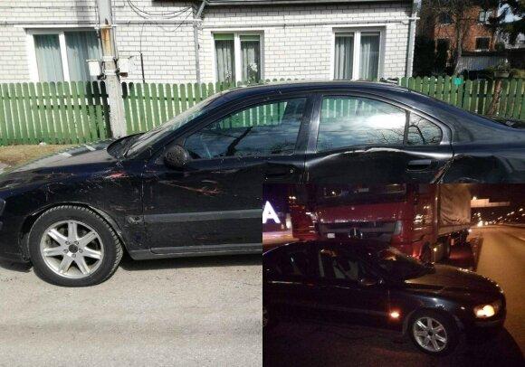 """Volvo"" avarija su sunkvežimiu. Regimanto Sartausko nuotr."