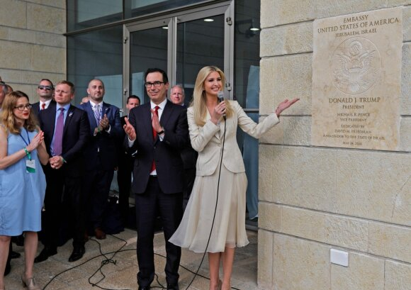 JAV ambasados Jeruzalėje atidarymas