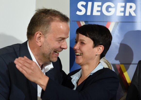 """Partijos """"Alternatyva Vokietijai"""" Meklenburgo-Pomeranijos žemėje  nugalėtojai"""
