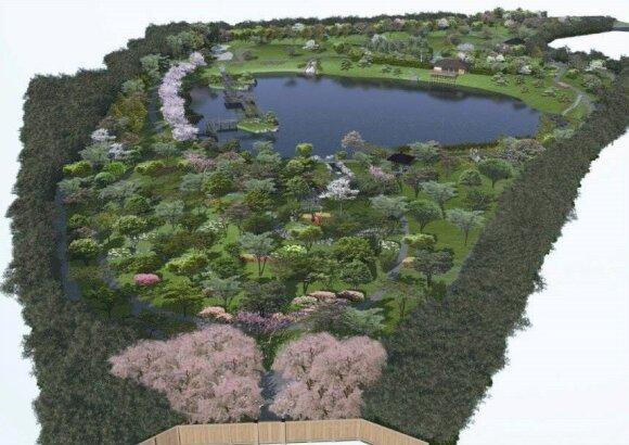 Japoniškas sodas Vilniuje: koks jis bus?