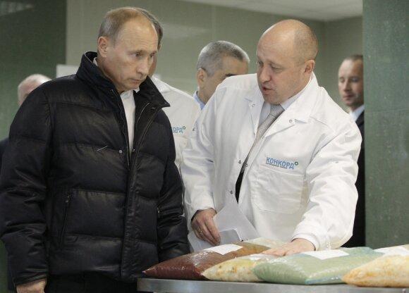 Vladimiras Putinas ir Jevgenijus Prigožinas