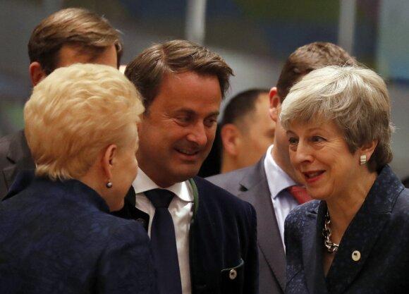 Dalia Grybauskaitė, Xavieras Bettelis, Theresa May
