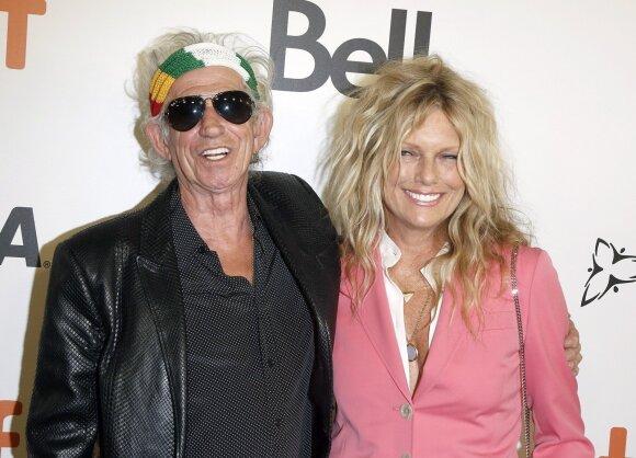Keithas Richardsas ir Patti Hansen