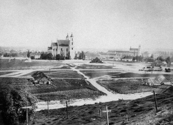 Šv. Jokūbo ir Pilypo bažnyčia ir Lukiškių aikštė, XIX a. II p.