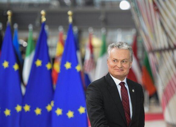 Gitanas Nausėda Europos Vadovų Tarybos posėdyje