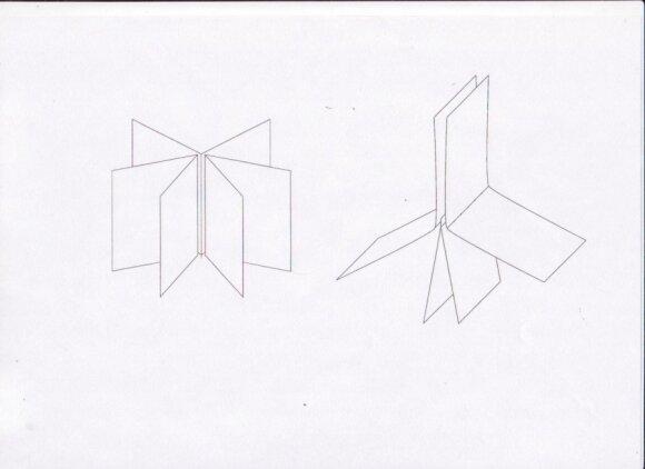 Iš kelių lakštų pagaminta knygutę reikėtų siųti paprastais dygsniais sudėjus kelis lapus. Viduriniojo lapo puslapiai turi būti kiek ilgesni, kad galima būtų jį persiųti. Dešinėje esančioje schemoje parodyta, kaip reikėtų sudėti lapus prieš persiuvant