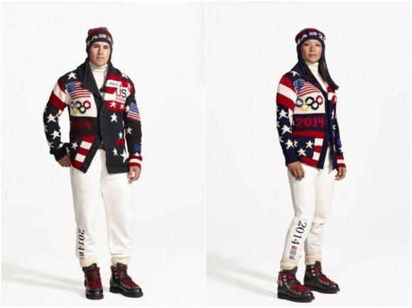JAV rinktinės Sočio olimpinių žaidynių apranga