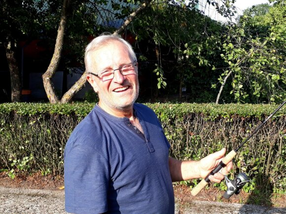 Juozo Savicko sūnus - Egidijus Savickas savo namuose, Kazlų Rūdoje