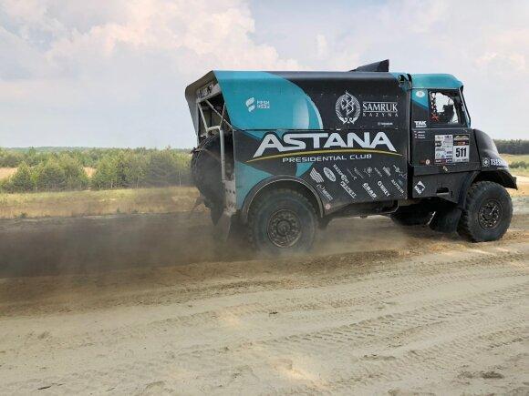 """Aurelijus Petraitis su """"Tatra"""" sunkvežimiu"""