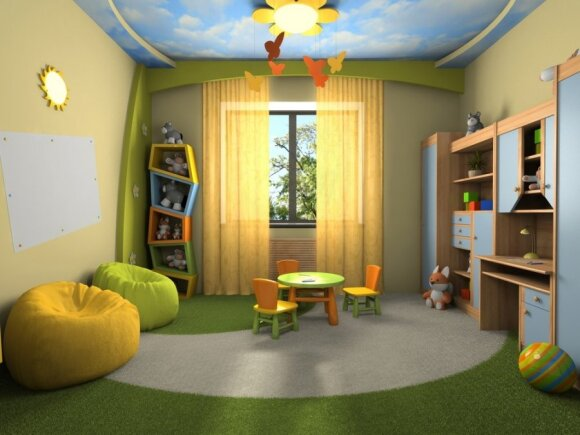 Interjeras vaikams: kokios spalvos ir kokios detalės tinka pagal amžių