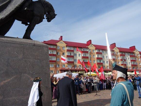 Открытие памятника Гедиминасу в Лиде