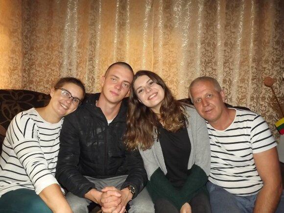 Vytautas Misevičius su šeima