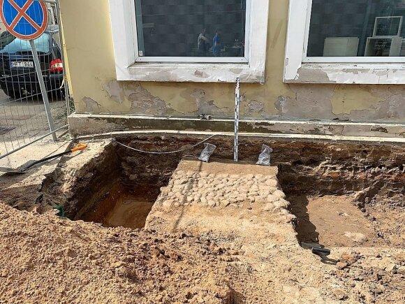Senovinis grindinys Panevėžyje