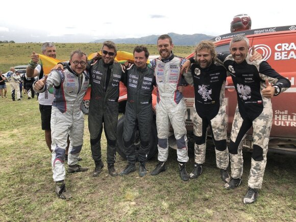 Lietuvai Dakaro rekordą padovanojęs Juknevičius: turime didžiuotis visais lietuvių ekipažais