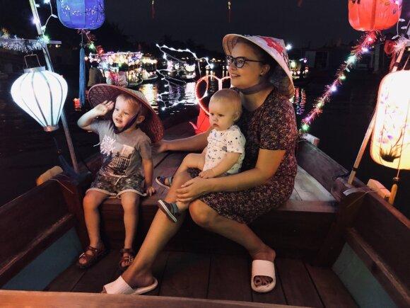 Gintarė Valaitytė su vaikais