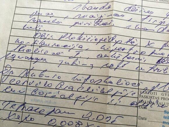 Gydytojų rašysena