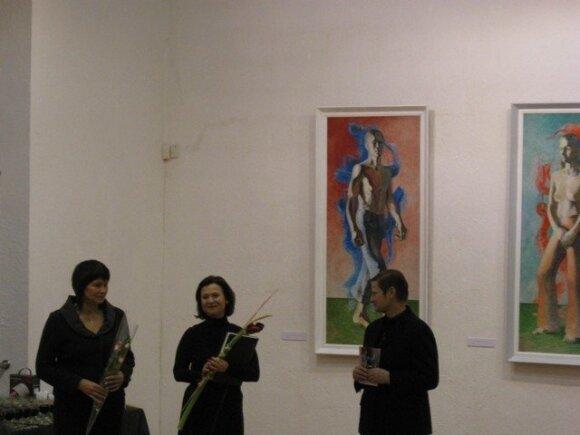 Dailininko A.Švėgždos parodoje skambėjo sūnaus atliekama muzika