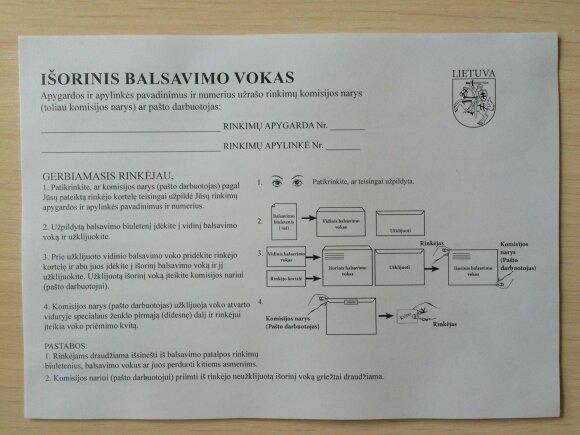 Išankstiniam balsavimui reikalingi dokumentai