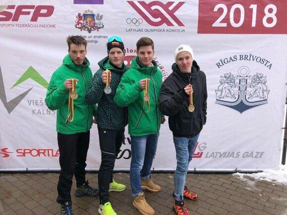 Nikita Romanovas, Linas Banys, Jokūbas Mačkinė, Maksimas Fominas / Foto: Biatlono federacija