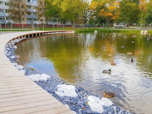 Ąžuolyno giraitė Klaipėdoje sparčiai keičiasi: darbus užbaigti planuojama dar šiemet