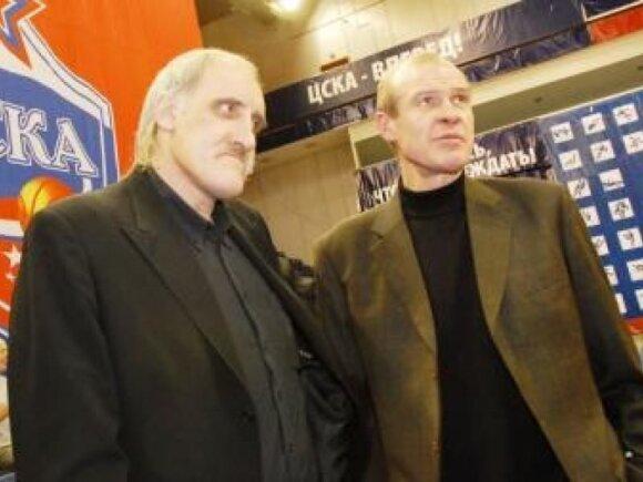 Aleksandras Belostenas (dešinėje) ir Vladimiras Tkačenka