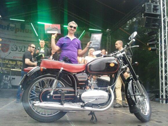 Best Modified Harley nugalėtojas - motociklas Harley Davidson Shovelhead