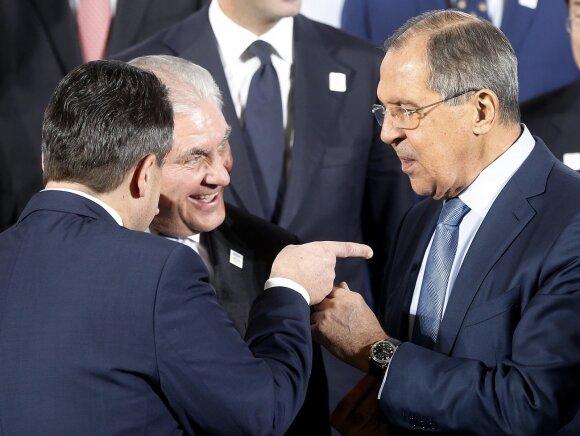 Sigmaras Gabrielis, Rexas Tillersonas, Sergejus Lavrovas