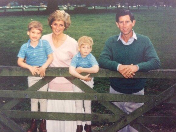 Princas Charlesas ir princesė Diana su vaikais