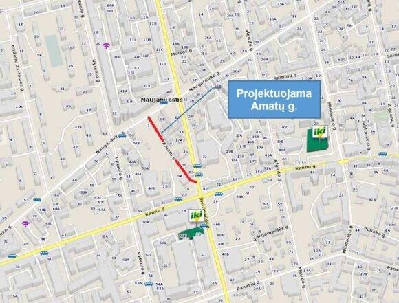 Gera žinia: Naujamiestyje bus tiesiama nauja gatvė