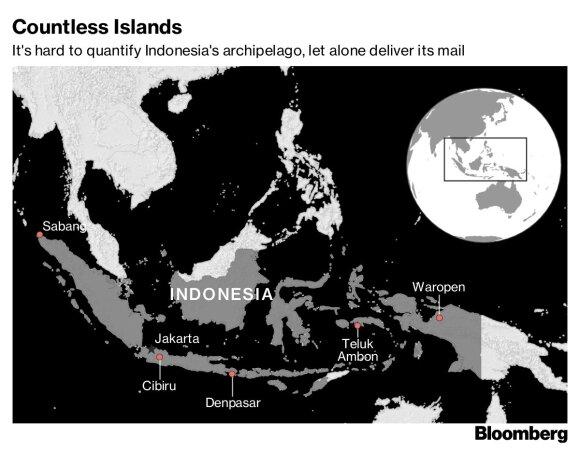 Pragariški sunkumai Indonezijos paštininkams: kaip pristatyti siuntinius į 18 tūkst. tolimų salų
