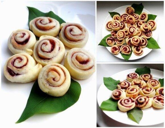 KAIP PAS MAMĄ: varškės sausainiai rožytės