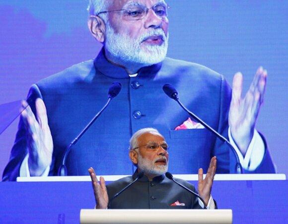 Indijos premjeras Narendra Modis