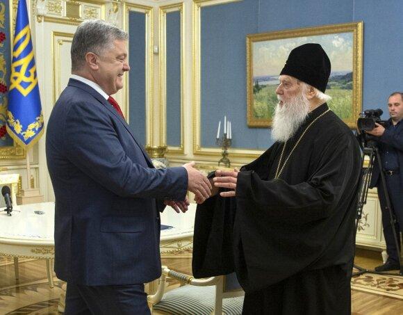 Petro Porošenka susitiko su Patriarchu Filaretu
