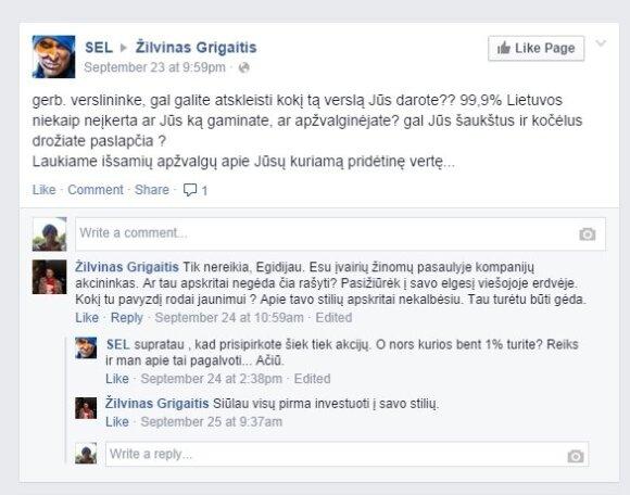 E. Dragūno ir Ž. Grigaičio susirašinėjimas