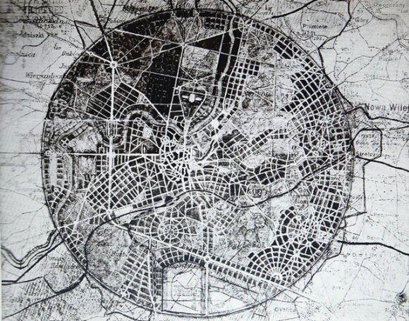 1931 m. pasiūlymas apskrito formos miesto planui