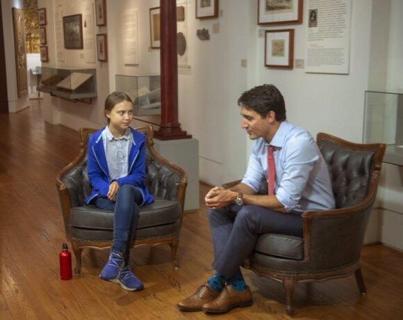 Greta Thunberg, Justinas Trudeau