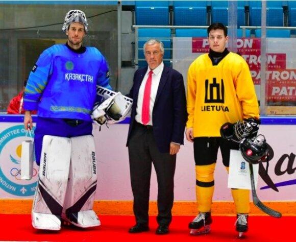 Arvidas Domeika (dešinėje, Foto: IIHF)