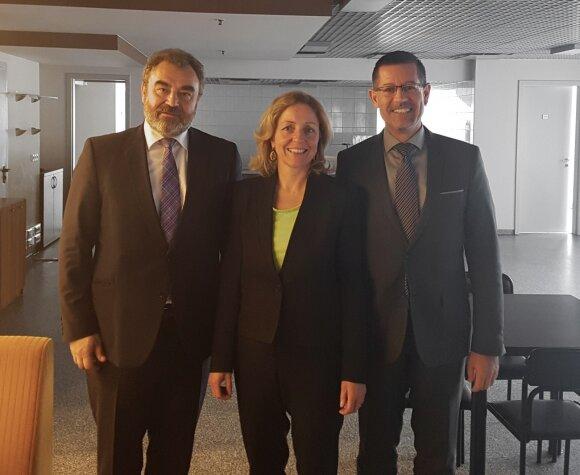 EŽTT teisėjai Egidijus Kūris,  Angelika Nussberger ir Carlo'as Ranzoni's.