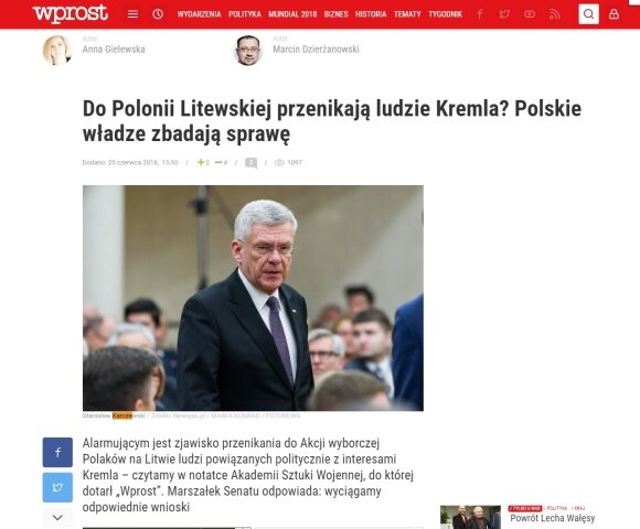 Besąlygiška meilė baigėsi: flirto su Kremliumi kaina Lietuvos lenkų politikams bus labai nemaloni