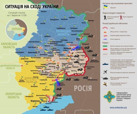 Mūšių Ukrainoje žemėlapis mediarnbo.org nuotr.