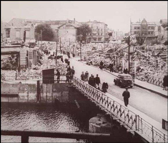 Per karą sugriauta Klaipėda