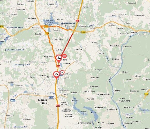 Kelias A14 Vilnius-Utena bus remontuojamas iki spalio, vairuotojams teks naudotis apylanka