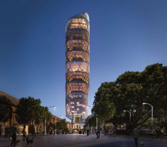 Sidnėjaus dangoraižio maketas (SHoP/BVN Architects nuotr.)